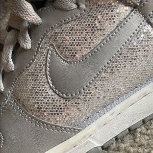 Nike Shoes - Silver Sparkle Nike High Tops